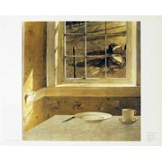 """ANDREW WYETH Groundhog Day 19.25"""" x 24.75"""" Poster 1985 Yellow, Brown, Black"""