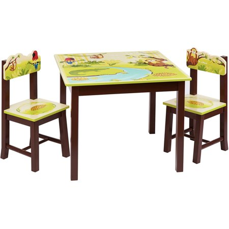 Guidecraft Jungle Party Table and Chairs Set Green