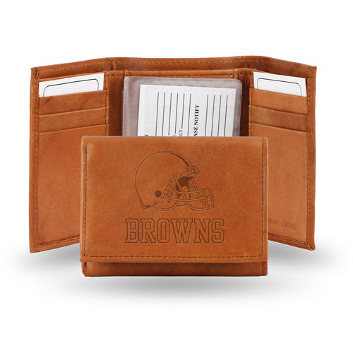 Rico Embossed Trifold Wallet - NFL Cleveland Brown