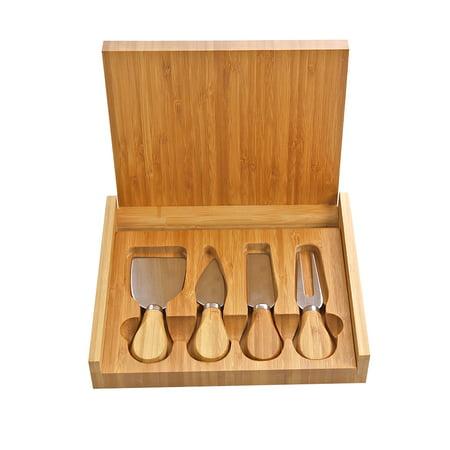 Monogram Online Premium 5 Piece Bamboo Cheese Set