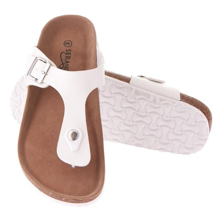 Seranoma Thong Sandal For Women – Platform Slide Sandals With Cork Wedge Sole And Microfiber Insole, Buckle Closure, Easy Slip On, Comfortable Design For Spring And Summer, Boho - Birkenstock Girls