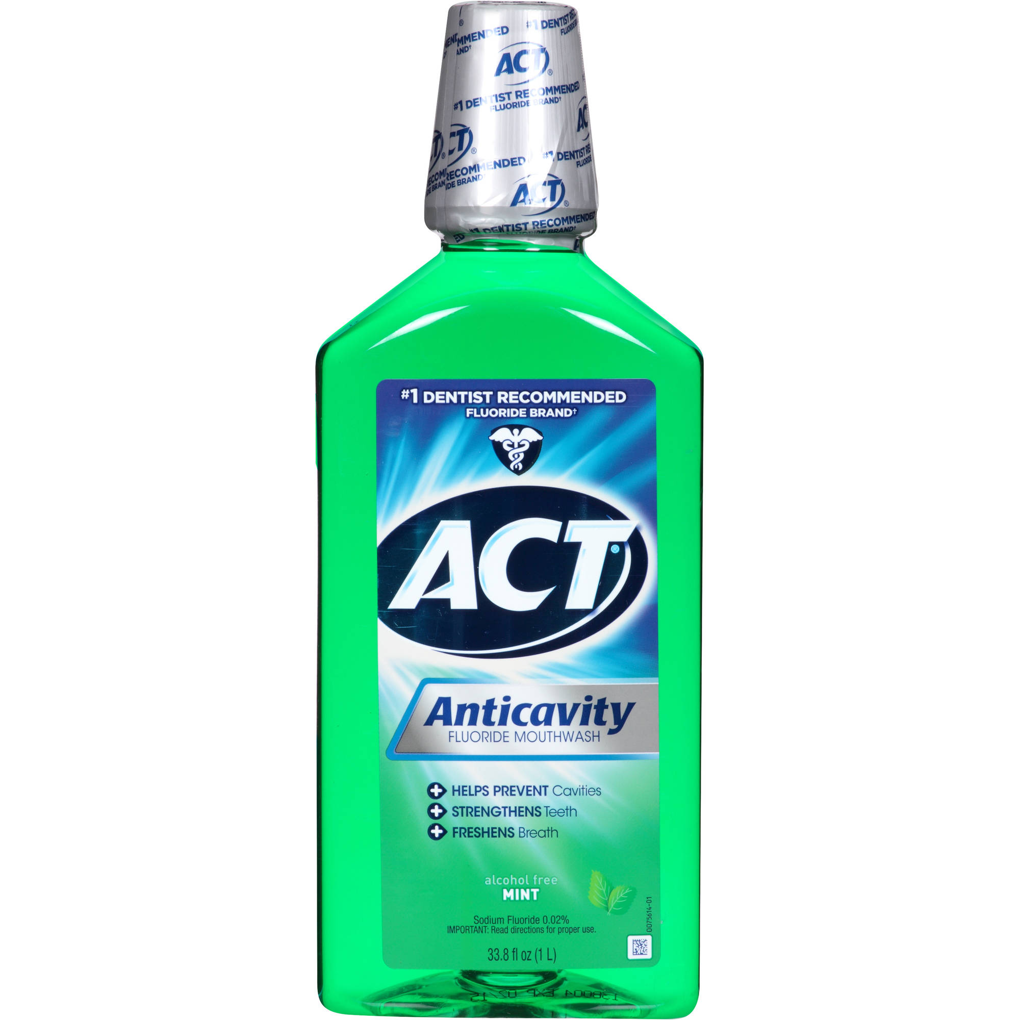 Act Mint Anticavity Fluoride Rinse, 33.8 oz