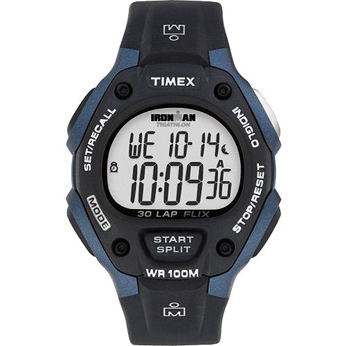 Timex Men's Ironman Classic 30 Full-Size Watch, Black Resin Strap by Timex