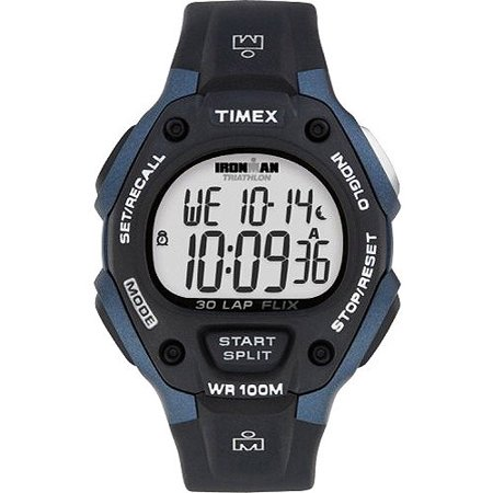 Timex Men's Ironman Classic 30 Full-Size Watch, Black Resin Strap