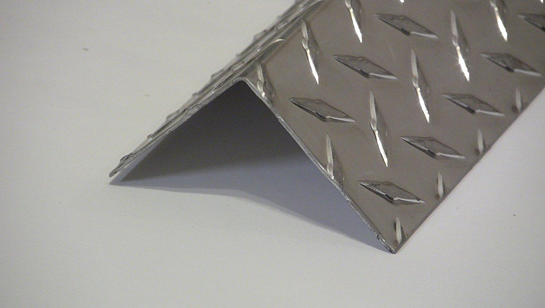 3003 UAAC 2pcs Aluminum Diamond Plate Angle .062 x 3 x 3 x 48 in