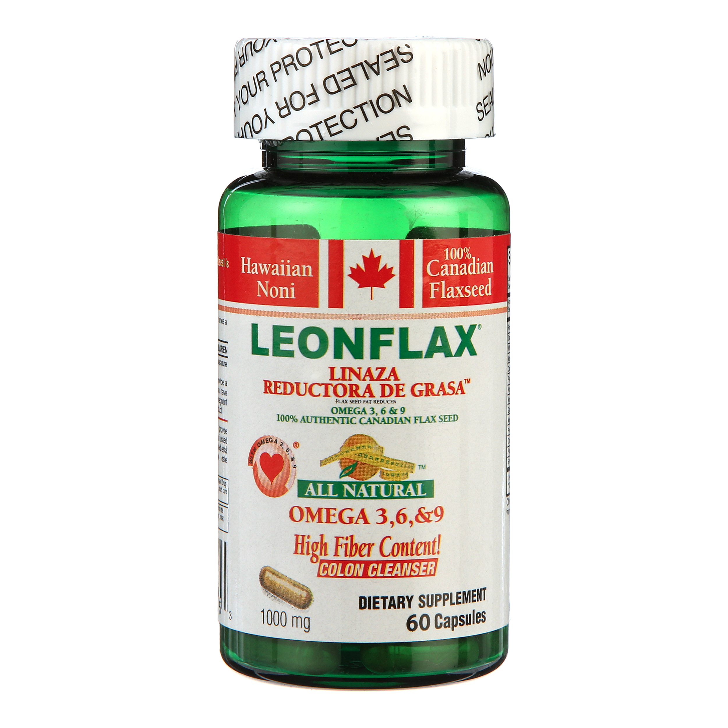 Leonflax Omega 3 6 9 Fiber Capsules 120 Ct Walmart Com