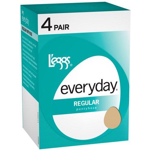Hanes L'eggs Women's Everyday Reg Pantyhose, 4-Pair