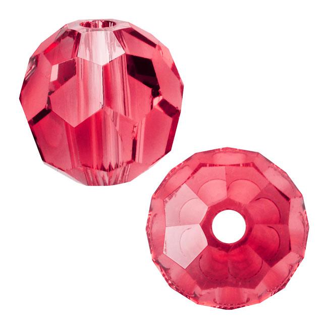 Swarovski Crystal, #5000 Round Beads 4mm, 12 Pieces, Padparadscha