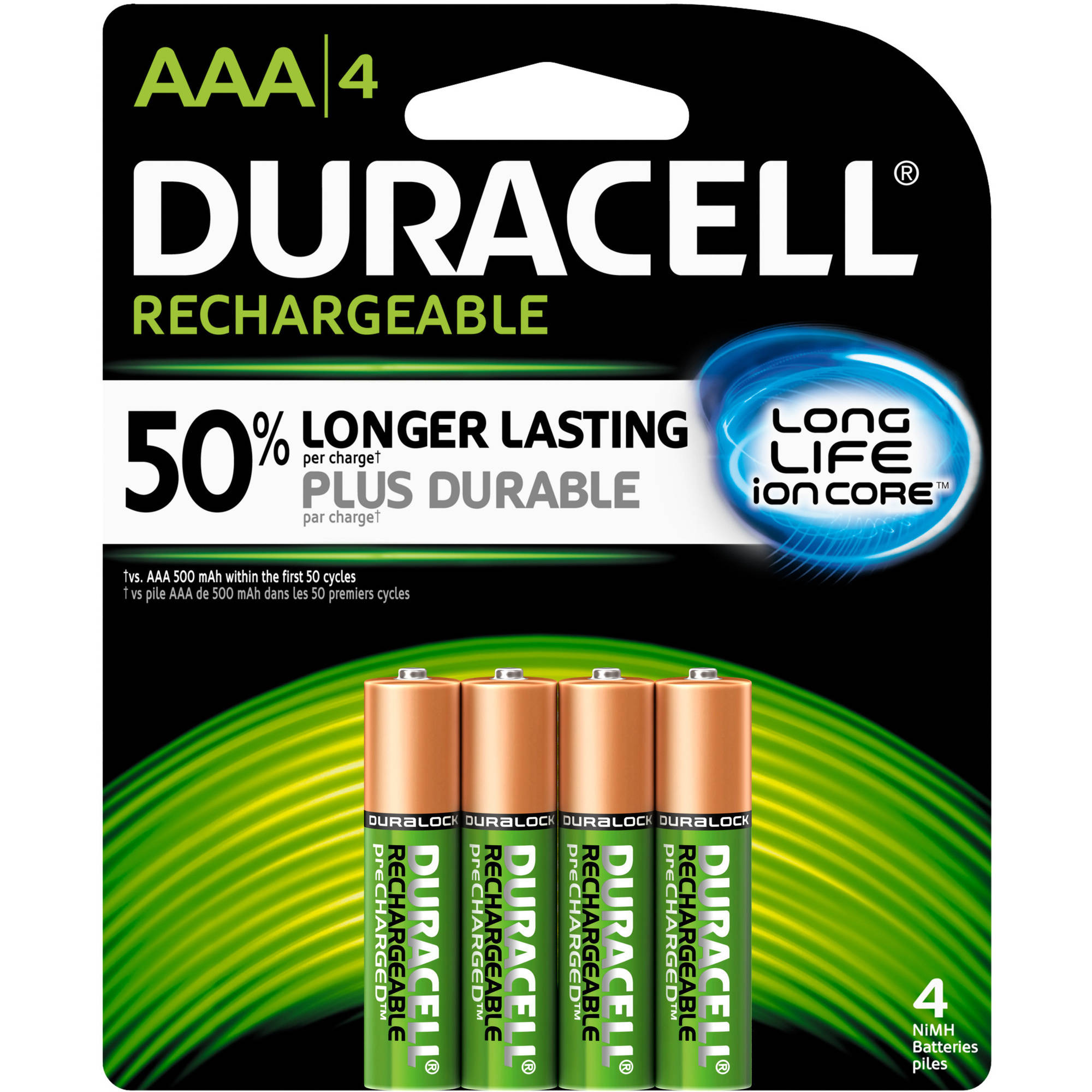 Duracell Rechargeable AAA Pre-Charged Household Batteries