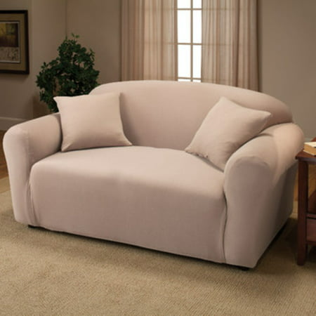 Madison Jersey Stretch Slipcover, (Loveseat Cover)