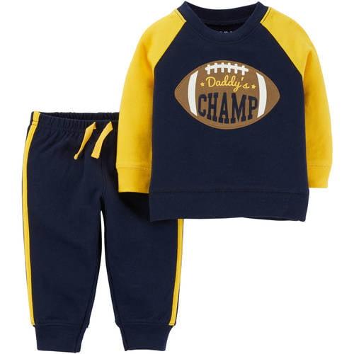 Baby Toddler Boy Microfleece Shirt and Pant 2 Piece Set