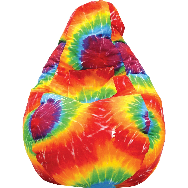 large teardrop cargo pocket microfiber bean bag chair