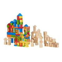Spark. Create. Imagine. Wooden Animal Blocks with Shape Sorting Lid, 150 Pieces