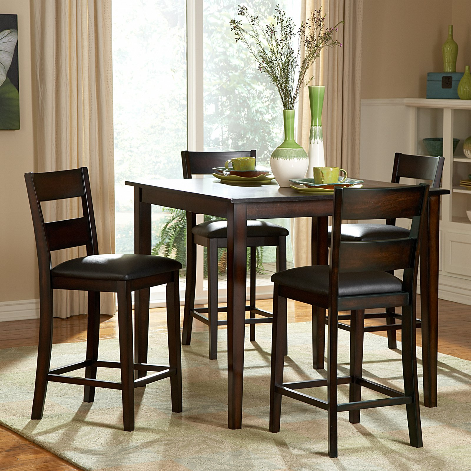 homelegance griffin 5-piece counter height dining table set
