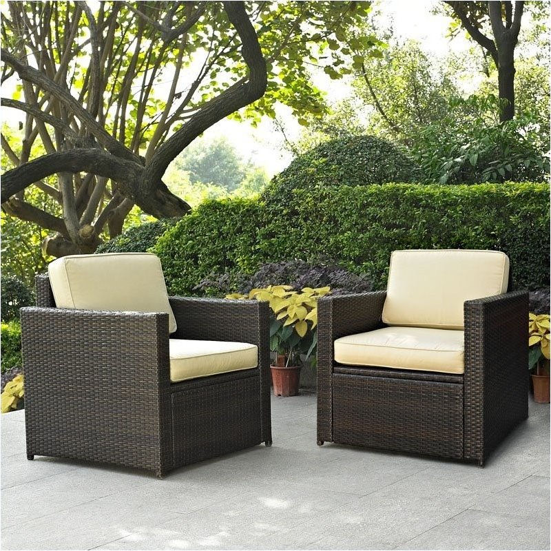 Pemberly Row 2 Piece Outdoor Wicker Seating Set