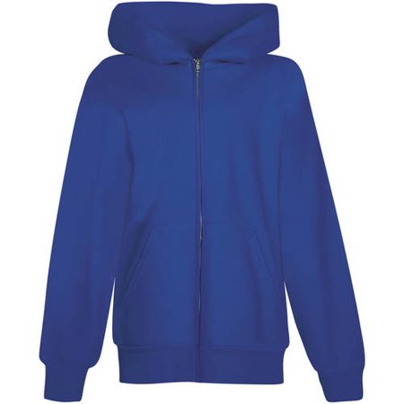 Hanes Youth EcoSmart Full-Zip Active Hoodie (Little Boys & Big (Blue And White Striped Zip Up Hoodie)