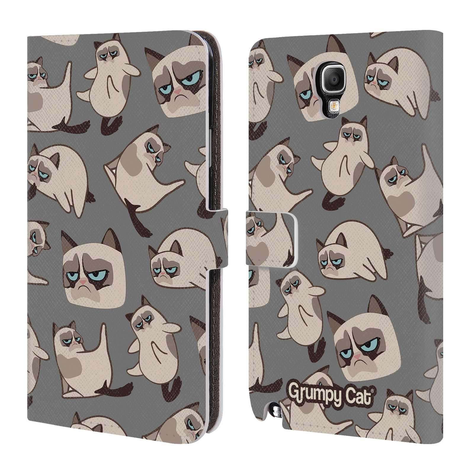 OFFICIAL GRUMPY CAT GRUMPMOJI LEATHER BOOK WALLET CASE COVER FOR SAMSUNG PHONES 1