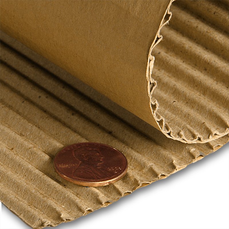 "Corrugated Cardboard Roll 36"" Regular B Flute by Paper Mart"