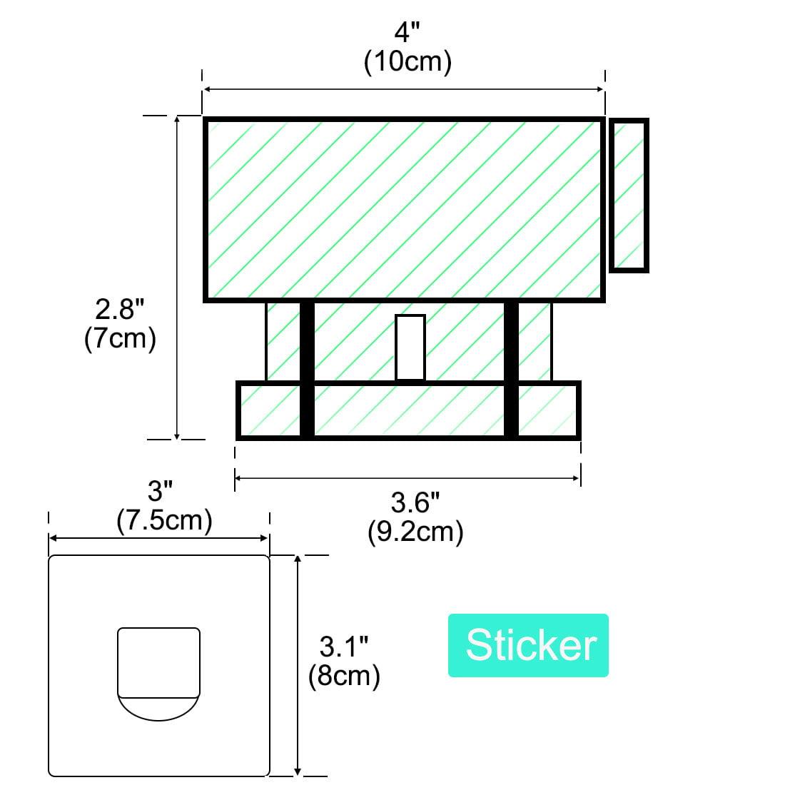 Self Adhesive Plastic Hair Dryer Holder Blower Rack Organizer Bathroom Green - image 1 de 7