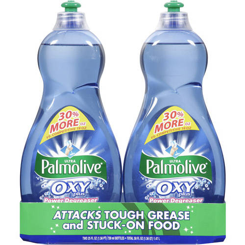 Palmolive Oxy Plus Power Degreaser Concentrated Dish Liquid, 25 oz, 2ct