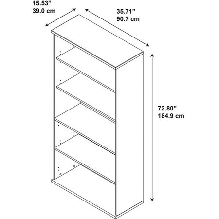Series C 2 Piece Corner Desk and Shelf Bookcase Set in Hansen Cherry - image 6 de 12