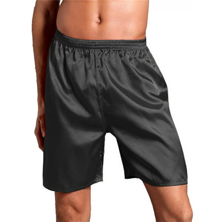 Men's New Thai Silk Satin Comfy Loose Breathable Pyjama Shorts (Intimo Silk Boxers)