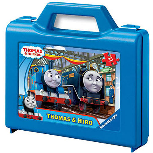 Ravensburger Thomas and Friends: Thomas and Hiro Puzzle in a Suitcase Box, 35 Pieces