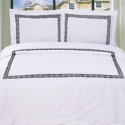 Impressions Serena Embroidered Cotton Duvet Cover Set