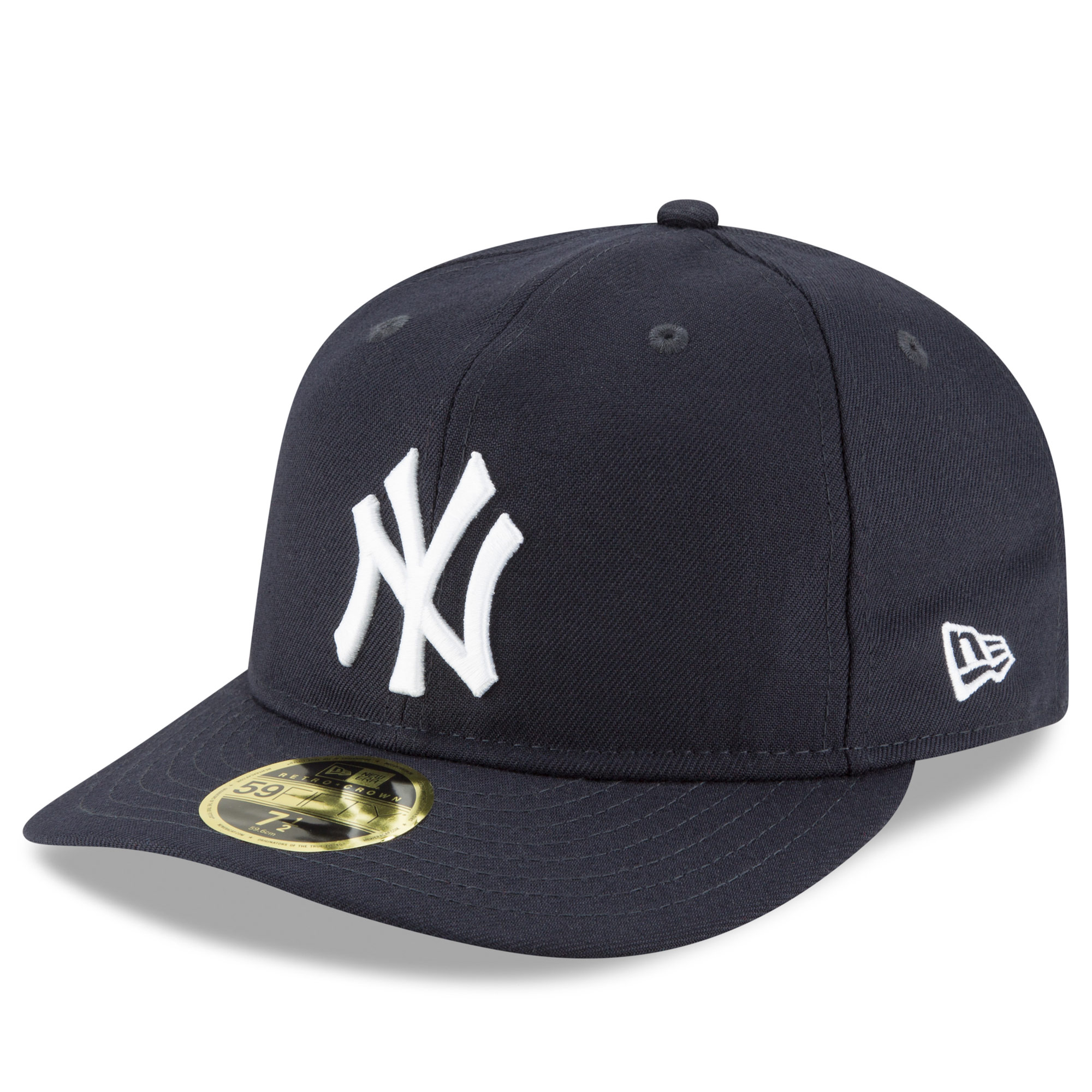New York Yankees New Era Fan Retro Low Profile 59FIFTY Fitted Hat - Navy