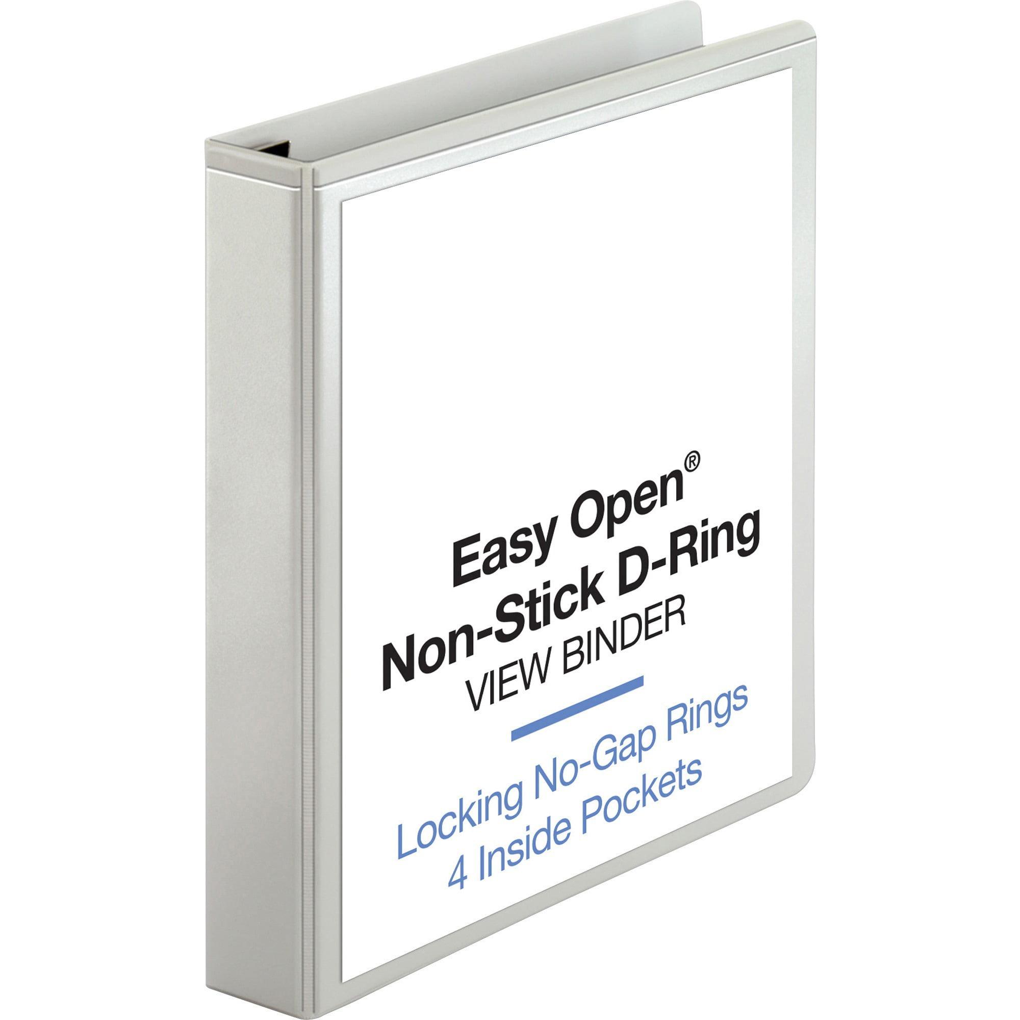 Business Source, BSN26957, Locking D-Ring View Binder, 1 Each, White