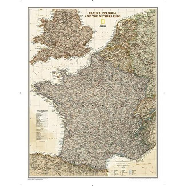 Maps  France- Belgium- and The Netherlands Executive - image 1 de 1