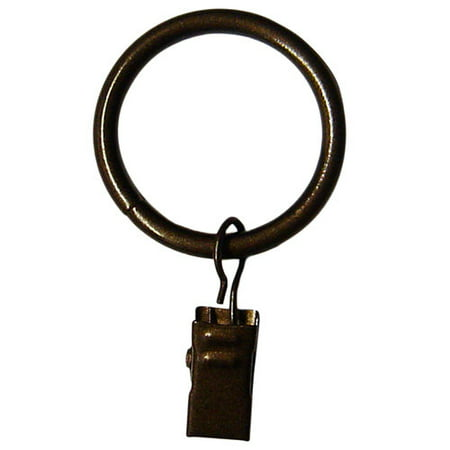 Mainstays Oil Rubbed Bronze Curtain Clip Rings Set Of Seven