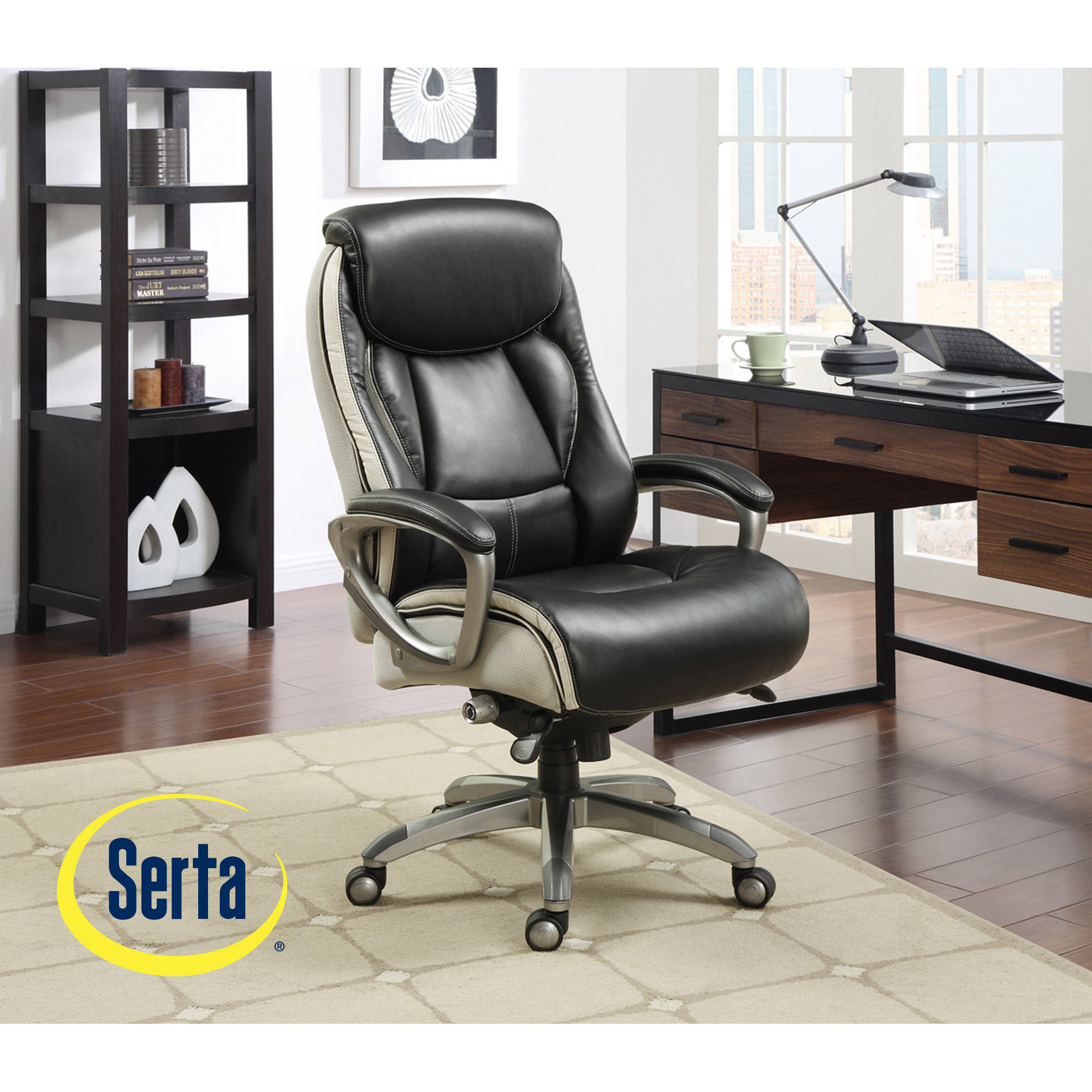 Serta Smart Layers Executive Office Chair, Tranquility   Walmart.com