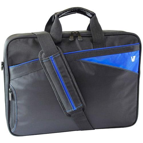"""V7 CCD1-BLU-9N 16.1"""" Edge Frontloader Laptop Bag, Black/Blue"""