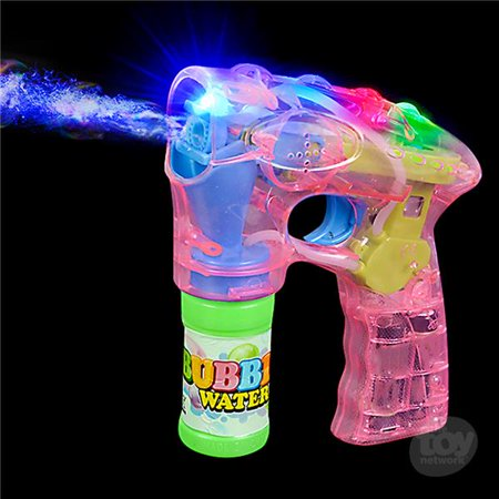 "7"" Light Up Bubble Blaster - Pink LED Transparent Bubble Gun Shooter, Bubble Blaster Machine Gun, Bubble Gun Kit, Sound Toy Figure Weapons for Birthday, Pool & Bubble Party, Party Favor](Bubble Party Favors)"