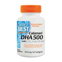 Doctor's Best DHA 500 with Calamarine Softgels, 500 mg, 60 Ct