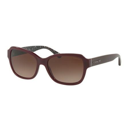 c9e82edefdf5 Coach - Sunglasses Coach HC 8232 F 550913 OXBLOOD - Walmart.com