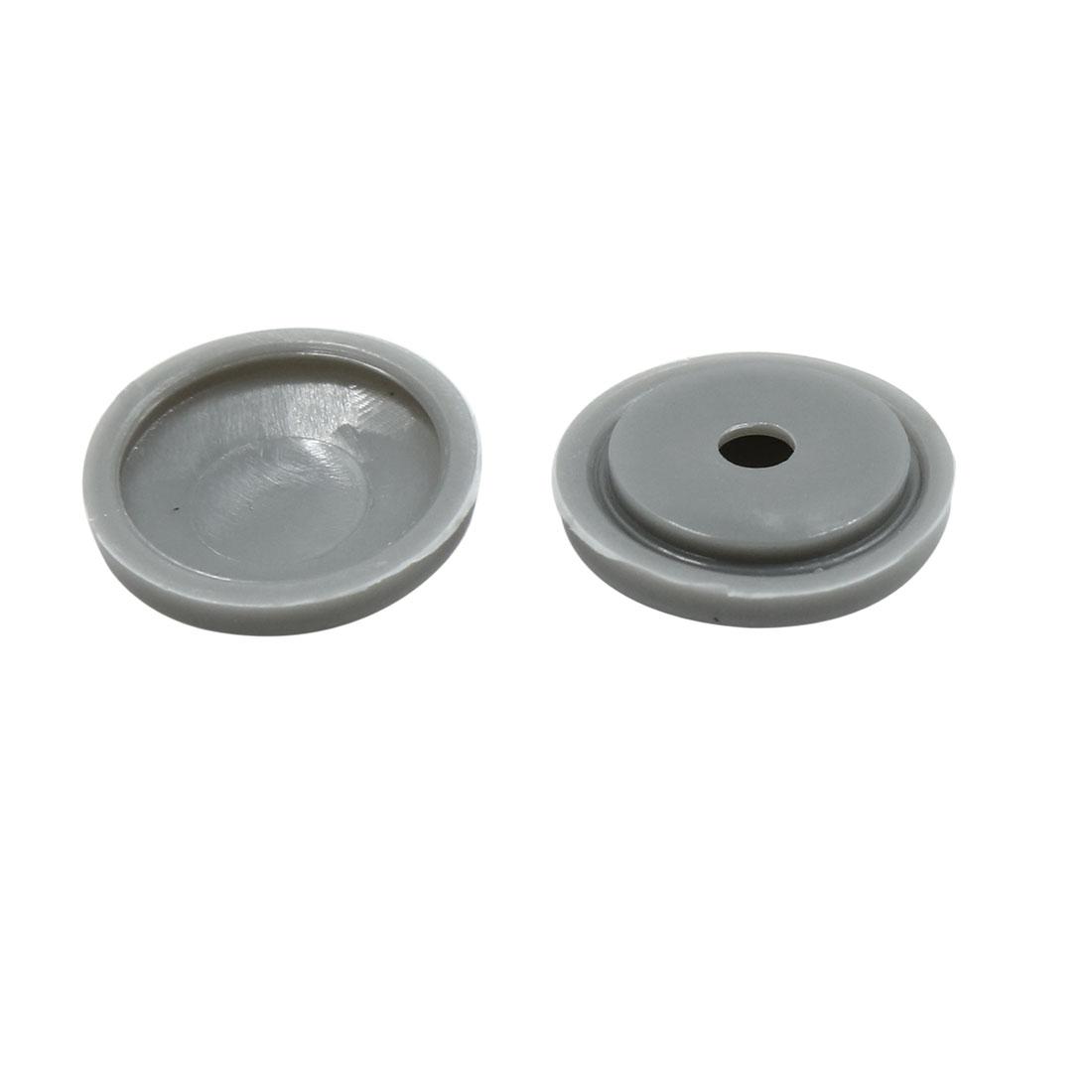 100 Set Gray 4mm Dia Nut Screw Bolt Cap Cover Interior Decoration for Car - image 1 of 3