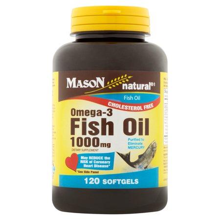 Mason natural omega 3 fish oil softgels 1000mg 120 count for Omega 3 fish oil walmart