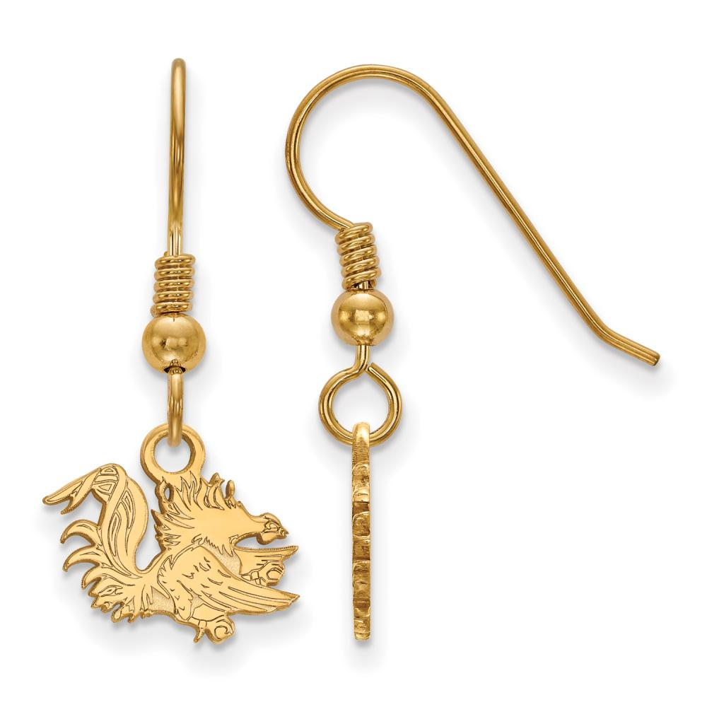 South Carolina Extra Small (3/8 Inch) Dangle Earrings Wire (Gold Plated)
