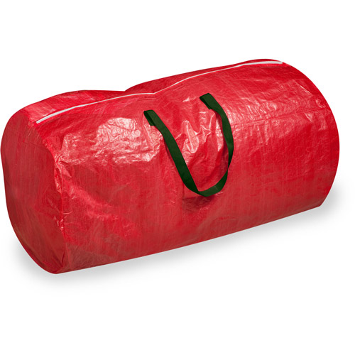 Honey-Can-Do Tree Storage Bag, Red with Green Handles