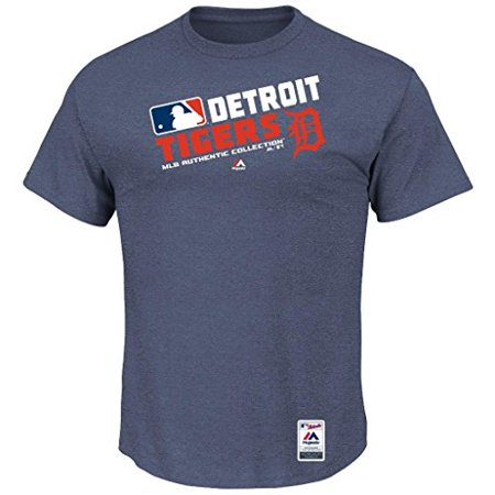 Detroit Tigers Authentic Cool Base (MLB Men's Authentic Collection Team Choice T-Shirt (Small, Detroit)