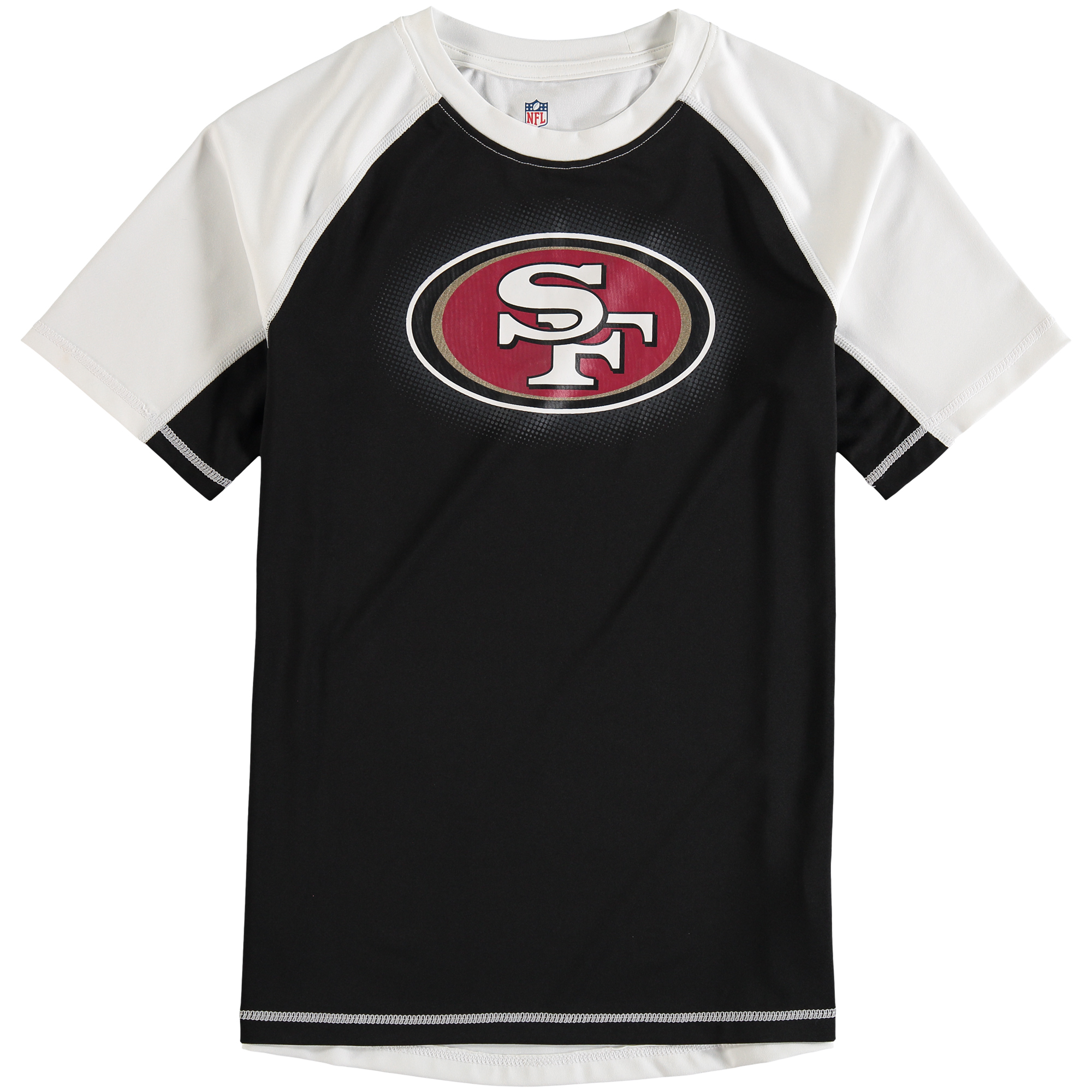 San Francisco 49ers Youth Color Block Rash Guard T-Shirt - Black/White