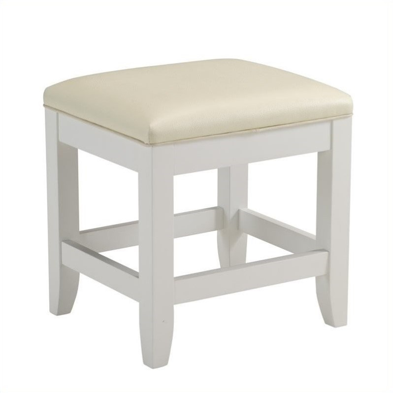 Home Styles Naples Vanity Bench in White Finish by Generic