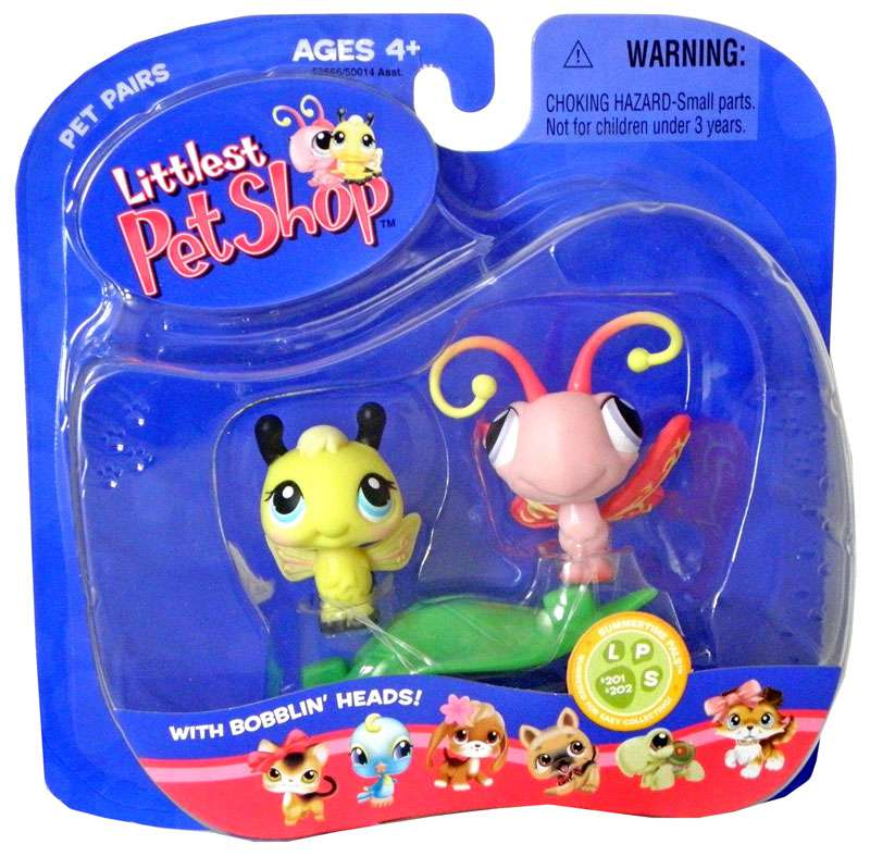 Littlest Pet Shop Pet Pairs Bee & Butterfly Figure 2-Pack