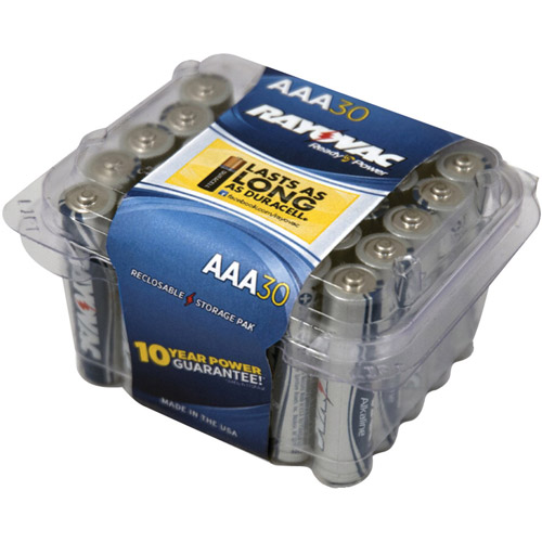 Rayovac AAA Alkaline Batteries, 30-Pack
