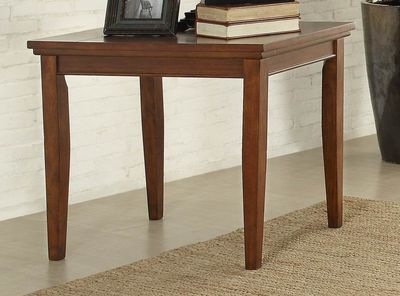 Homelegance Barnett End Table, Slate Insert In Stone Inlay / Warm Cherry