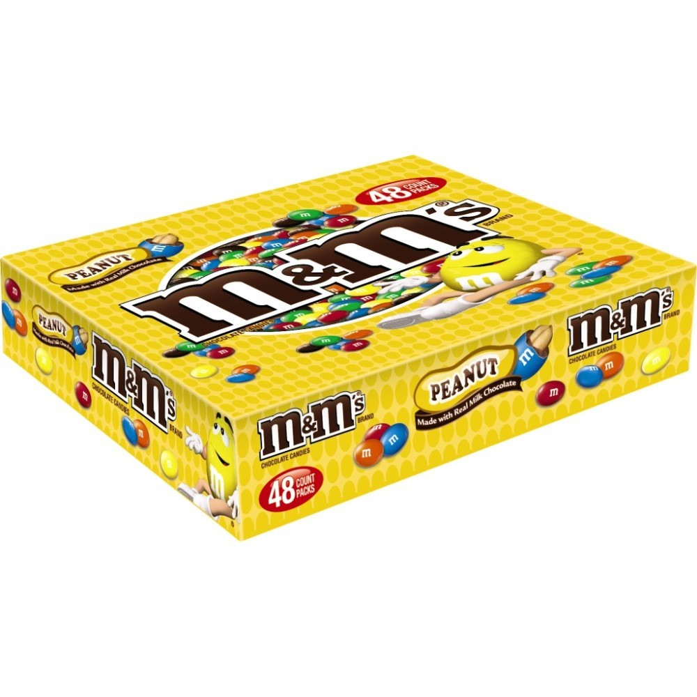 M&M's Peanut Chocolate Candies, 1.47 oz, 48 pack by Mars Chocolate