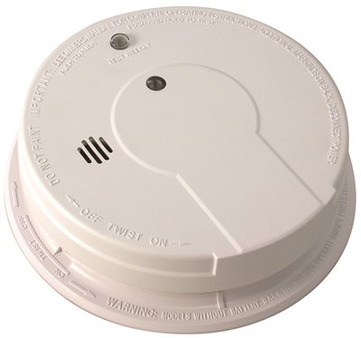 SENTINEL�� HARD-WIRED SMOKE DETECTOR WITH 9-VOLT BATTERY BACKUP, 120 VOLTS