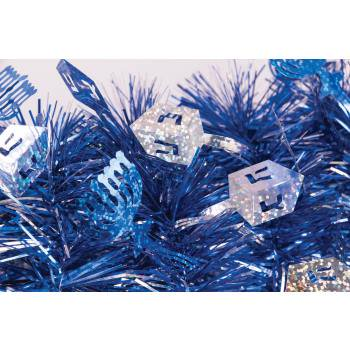 Chanukah Tinsel Garland - Table Ware Separates - 1 per pack - 1 (Nordic Ware Platinum Garland)